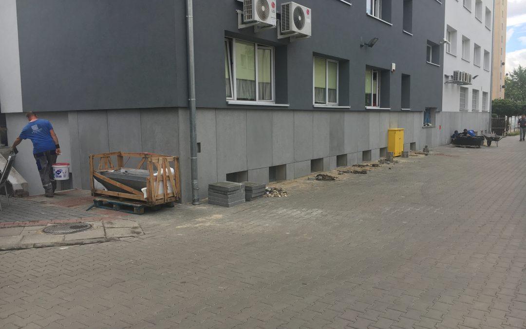 Płytki betonowe jako elewacja budynku