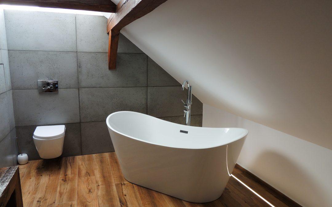 Nowoczesna Szara łazienka Z Drewnem łazienkowe Inspiracje