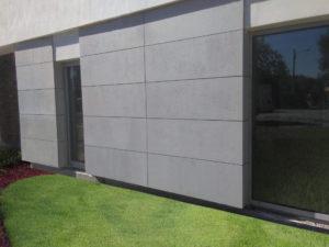 ściana elewacja wykończenie domu betonem
