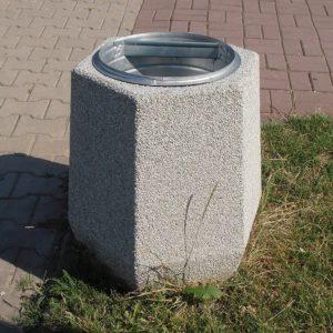 kosz na śmieci z betonu architektura miejska