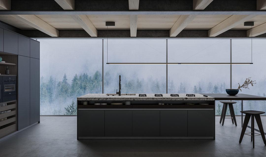 Aranżacje wnętrz z betonem architektonicznym w roli głównej