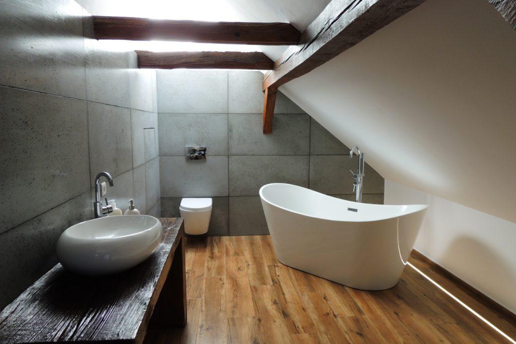 beton w łazience aranżacja