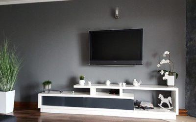 Aranżacja ściany z telewizorem. Salon multimedialny!