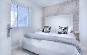 sypialnia minimalizm biała